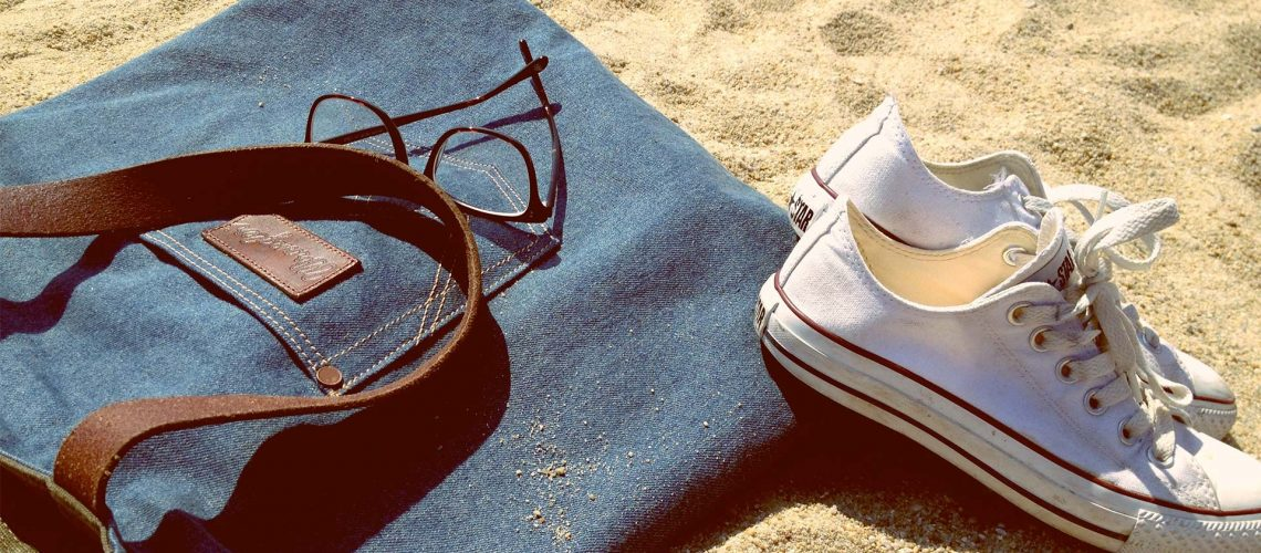 Beach Bag shoes and Glasses